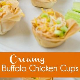 Creamy Buffalo Chicken Cups