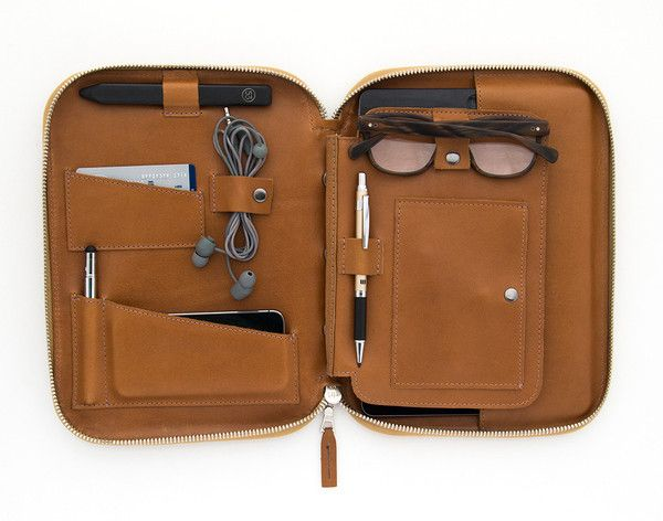 This is Ground. Genius travel case for iPad, phone, passport, cords & cards