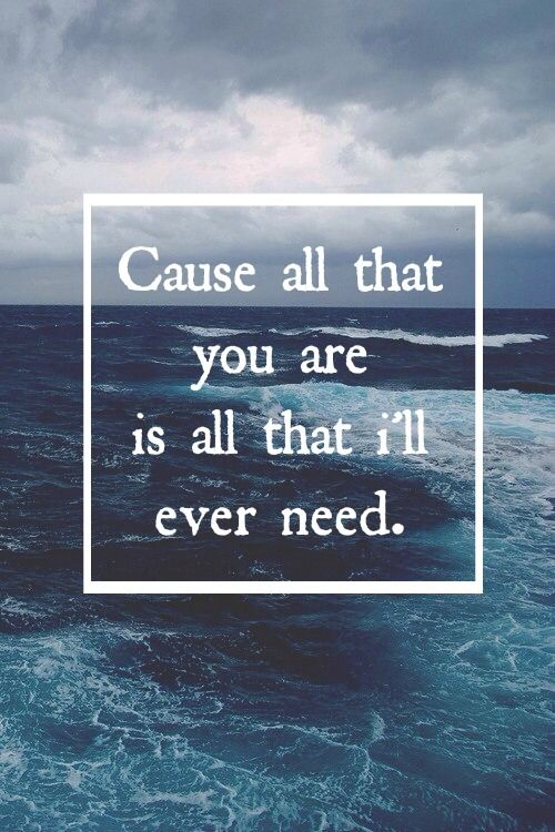 Quotes from song lyrics — •Tenerife Sea•