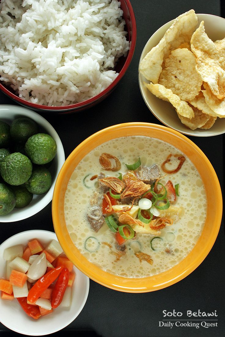 Jakarta is the birthplace of soto betawi, where it can be found everywhere, from side street food carts, hole in a wall places, food courts in malls, up scale restaurants, all the way to five star hotels. Each place will have their own way of preparing soto betawi, with highly...