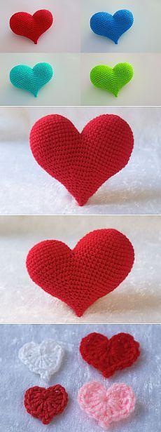 Подготовка к 14 февраля. Вяжем сердца: маленькие и большие_объемные + аппликация | Readerstore.ru