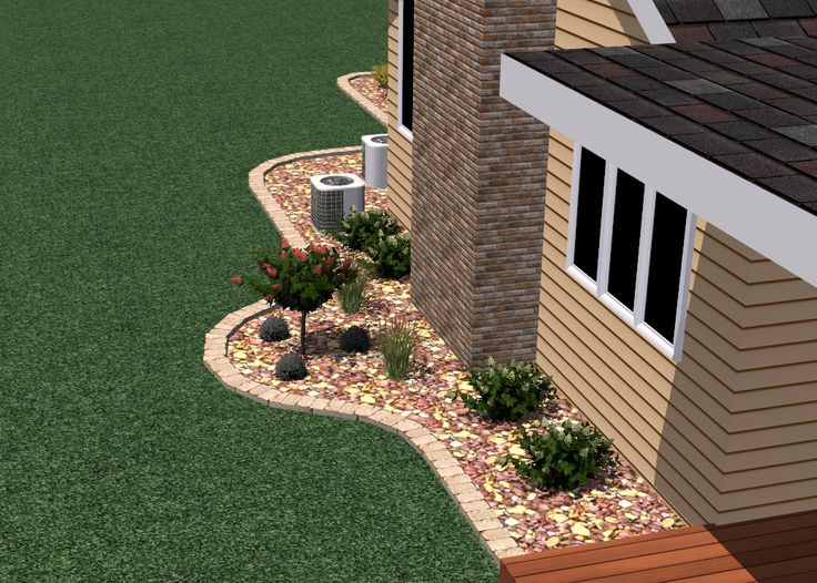 3 D Landscape Plan: Back Yard Landscaping Ideas.