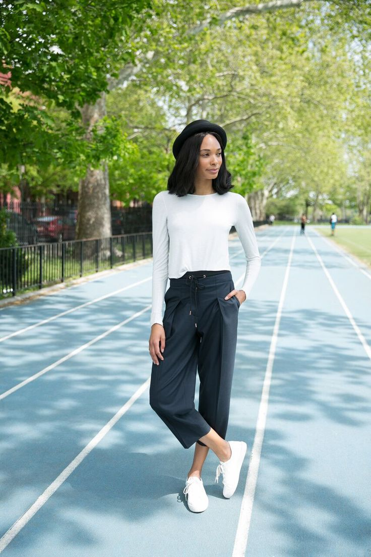 """""""Now that I'm a New Yorker, I'm all about quality and comfort! When you are running all day in the city it plays a major role."""" – Our latest Kit R'el Dade in the Quick Drawstring Trouser. 