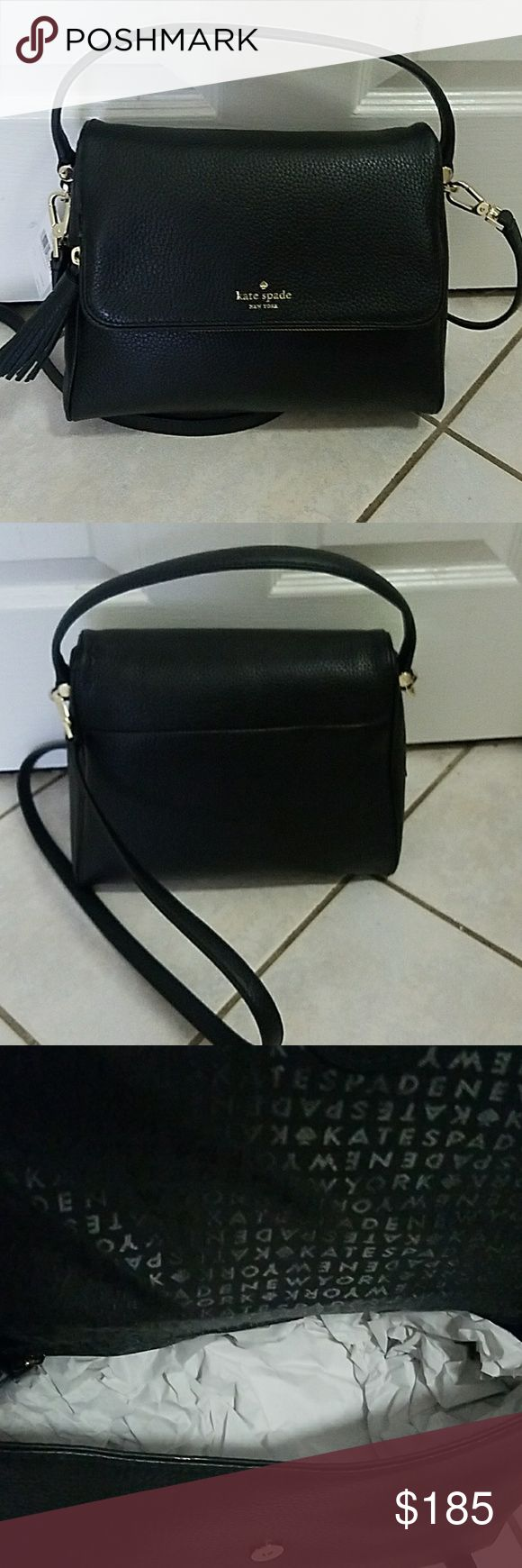 Kate Spade Miri Chester Street black satchel Brand new with tags cross body and satchel kate spade Bags Crossbody Bags
