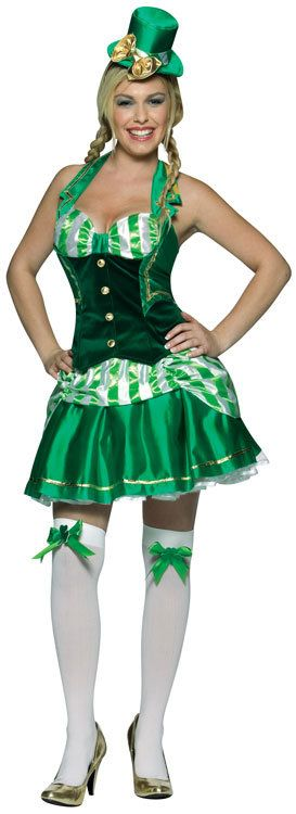 St Patrick's Day Shamrock Sweetheart Sexy Costume #beermaid #luck
