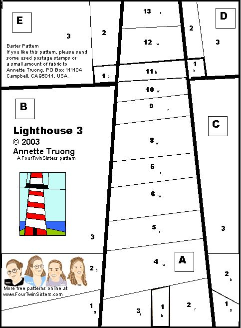 Lighthouse Quilt Pattern : 17 Best images about Lighthouses ...quilts and pillows appliques. on Pinterest Prince edward ...