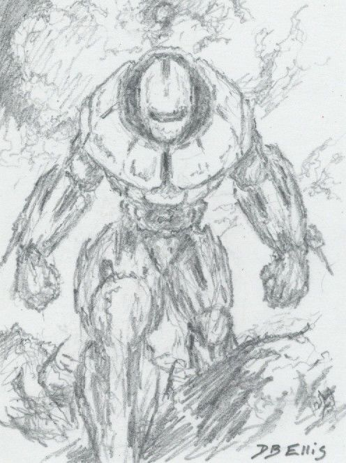 BUTLERIAN JIHAD (WAR MACHINE NO. 2)  original sci fi art, ACEO, Dune seriesMachine Crusader, Dunes Series, Butlerian Jihad, Fantasy Drawing, Art, Wars Machine, Originals Sci, Science Fiction, Jihad Wars