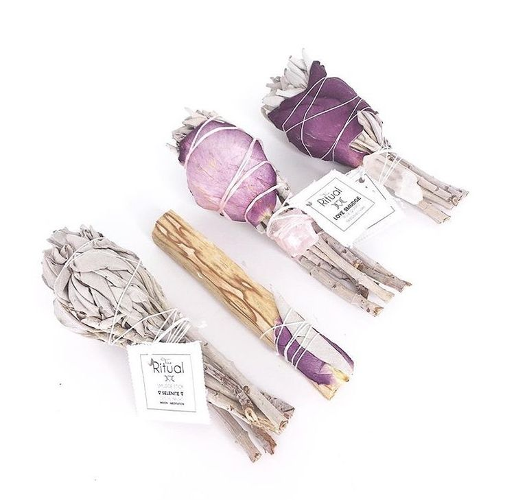 Love, light, and smudge sticks! Cleanse away negative energy and let the light in with our beautiful hand wrapped smudge sticks! Shop them at www.theritualstore.com