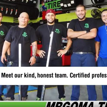 OUR GREAT TEAM IS ALWAYS READY TO GIVE YOU THE BEST SERVICE 👍👌 . #mrgomacrew #mrgomatires #miamitires #tirestore #tireshops #tires #tiresforsale