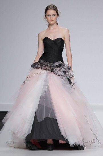 Abiti da sposa colorati 2014 - Abito rosa e nero