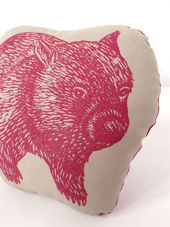 Decorative wombat cushion // childs cushion // wombat cushion // animal softie