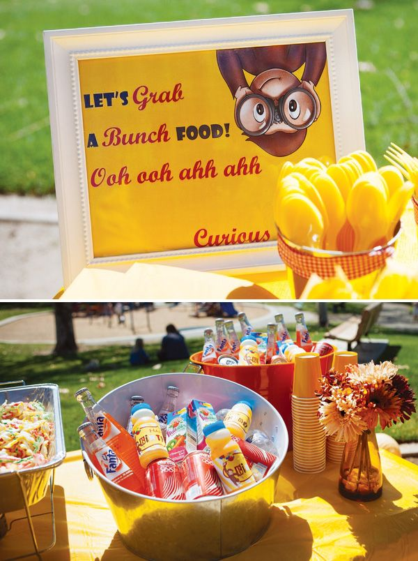 ¡Lindo! Gender Neutral Curious George Birthday Party