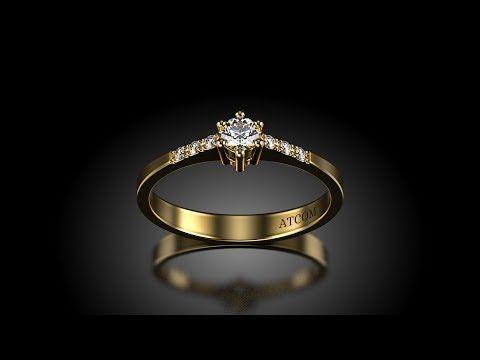 Inel de logodna cu diamante Magelanush din aur galben