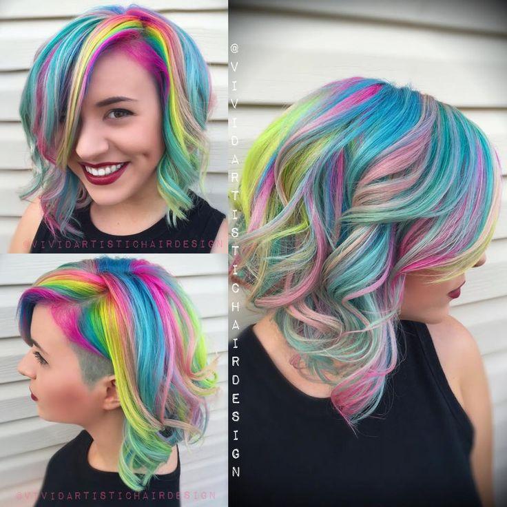 Ένα #άρθρο ΑΚΡΩΣ #καλοκαιρινό, #χρωματιστό και χαρούμενο!  #colorfulhair #haircolor #pinkhair #bluehair #multicolorhair Special thanks to every colorist who sent me photos! heart emoticon heart emoticon #hairfreak