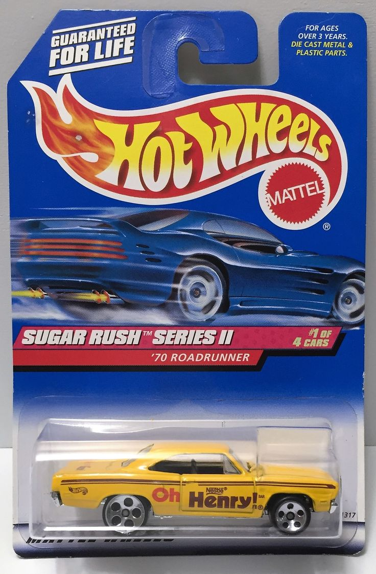 1998 Mattel Hot Wheels - Sugar Rush Series II - '70 Roadrunner This item is NOT in Mint Condition and is in no way being described as Mint or even Near Mint. Our toys have not always lead the perfect