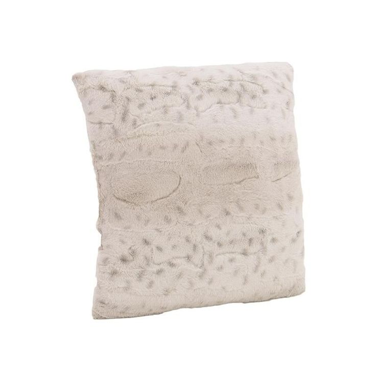 SYNTHETIC FUR CUSHION COVER IN BEIGE COLOR 40X40 - Furs - FABRIC ITEMS