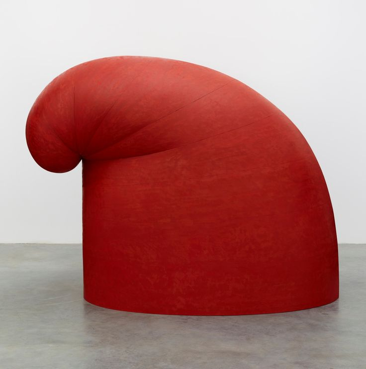 """Martin Puryear [USA] (b 1941), """"Big Phrygian"""", 2010-14. Painted red cedar (147 x 102 x 193 cm)______Discover more art on iheartmyartFind us: Facebook 