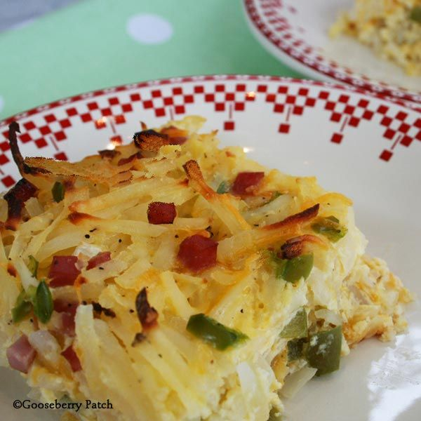 Gooseberry Patch Recipes: breakfast Golden Hashbrown Casserole from Farmhouse Kitchen
