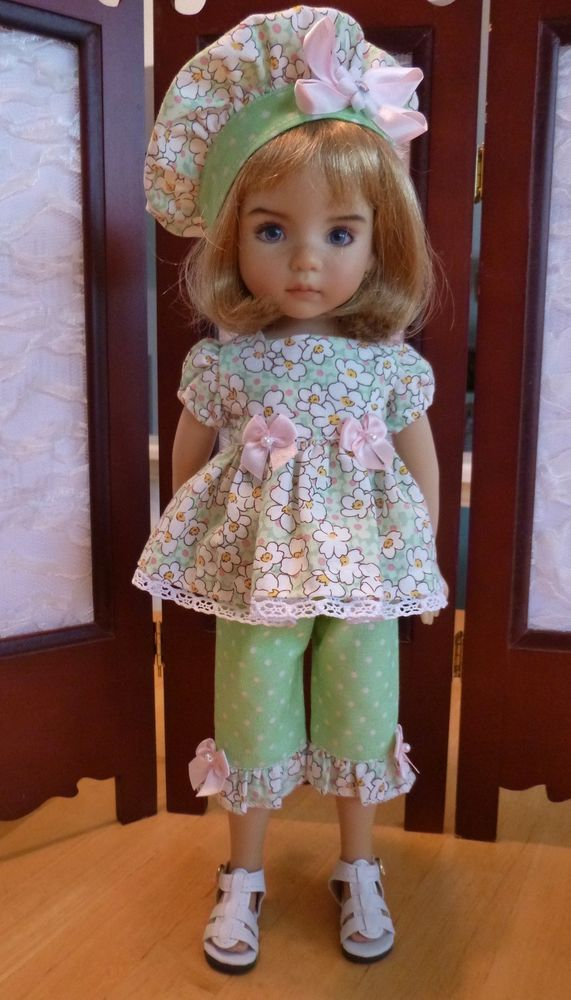 """Summertime Outfit for Effner 13"""" Little Darling Doll by Apple. SOLD BIN for $34.95."""