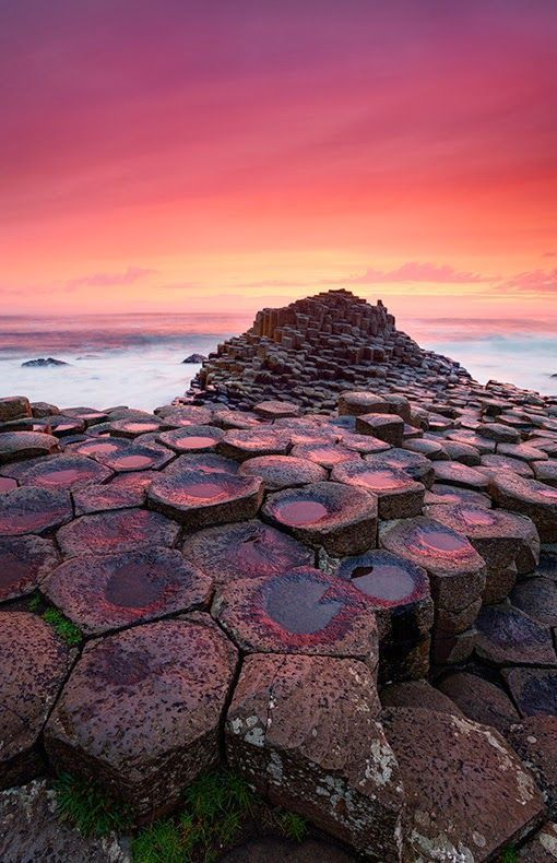 Sunset at the Giant's Causeway, Ireland