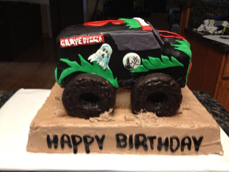 Gravedigger Birthday Cake