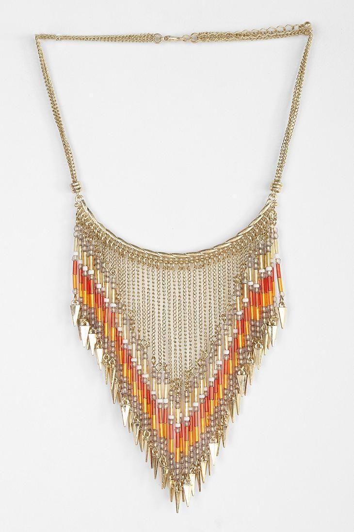 Beaded Points Bib Necklace #urbanoutfitters #bijoux #bijouxcreateur #bijouxfantaisie #jewelry #bijoux2016