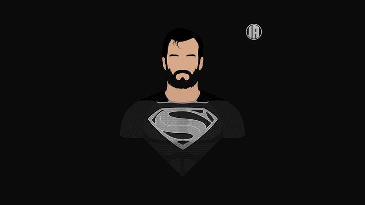 Superman, dark, minimalism, 8k wallpaper