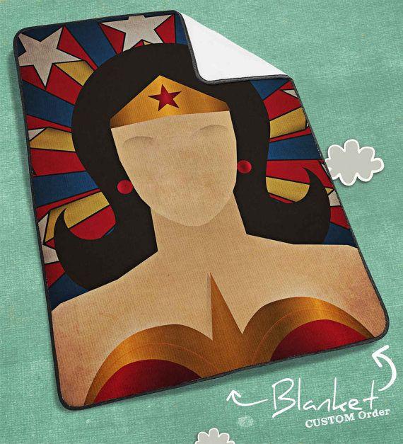 Wonder Woman Minimalist Heroes Blanket Wonder Woman by NICOLEPAT