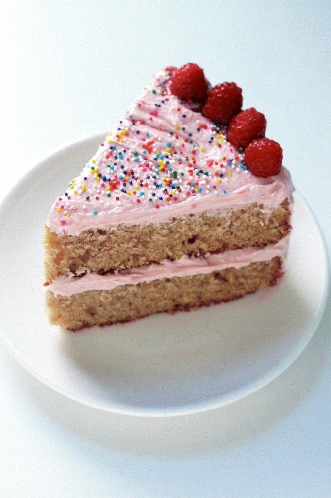 Raspberry Rose Layer Cake - Baker by Nature