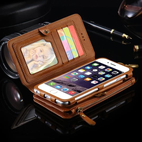 Specially designed for iPhone and Samsung mobile phones, the case has cutouts for easy access to speakers, charging ports, audio ports and buttons. This case also transforms into akickstand which lets you view your phone handsfree. Made of high quality soft vegan PU leather, feels great to touch!