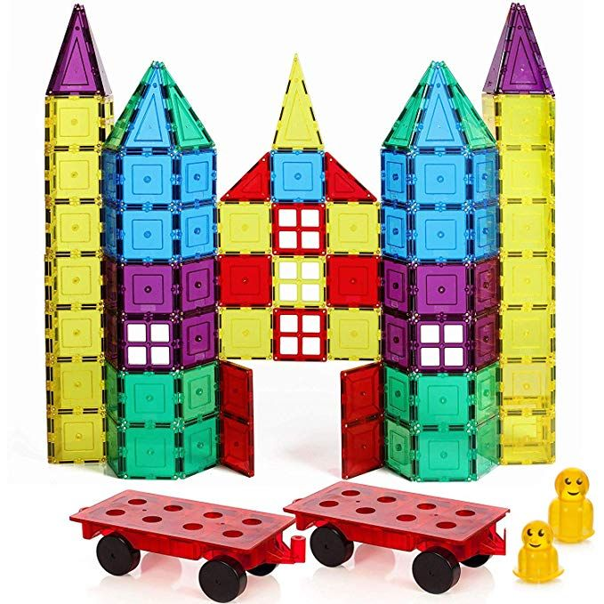 Award Winning Magnetic Stick N Stack 120 Classic Plus Set With 2 Car Bases Windows Doors Fences And More Review Magnetic Tiles Classic Set Building Blocks