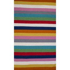 Multi Stripe Hand Woven Wool Rug