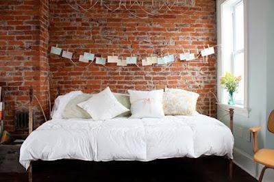 love bed: Interior, Idea, Dream, Brickwall, Brick Walls, Bricks, Exposed Brick, House, Bedroom