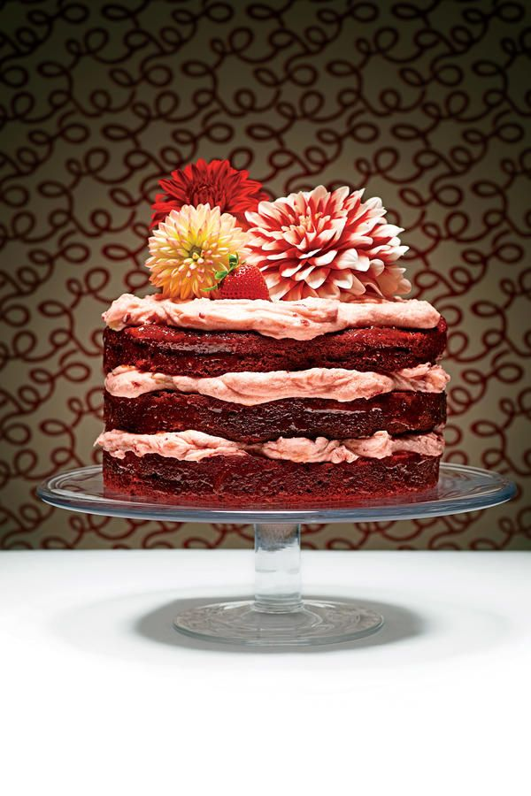 """Velvet Cakes (minus the jolt of red) were popular in Victorian times when savvy cooks blended flour and cornstarch to create fine-crumbed cake layers with a velvety texture. The subtle hue of Mahogany Velvet Cake, and later Red Devil's Food Cake, was the result of baking soda interacting with natural cocoa and other acids in the batter. Legend has it that chefs at the Waldorf Astoria dreamed up a hybrid """"Red Velvet"""" cake during the 1930s and served a slice to the owner of the Texas-based…"""