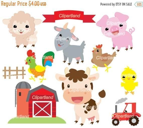 On Sale Instant Download Farm Animal Clip Art Cf 73 Farm Etsy Clip Art Etsy Banner Etsy Sales