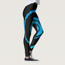 All Over Print Leggings with Blue Twirl