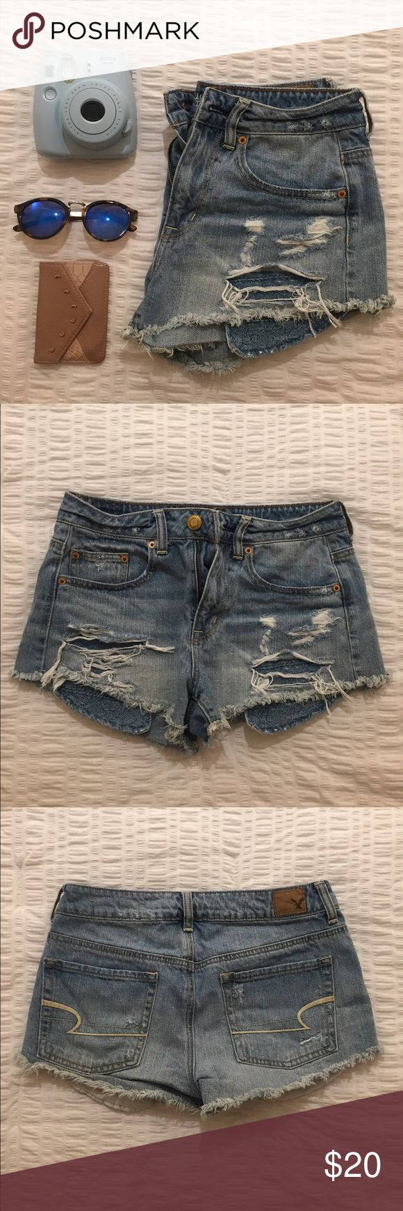 american eagle outfitters jean shorts jean shorts from american eagle outfitters. frayed bottom, rips in front, two front pockets, two back pockets. American Eagle Outfitters Shorts Jean Shorts