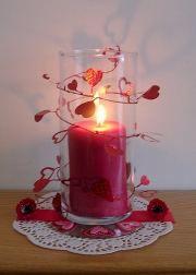 valentines candle centerpiece