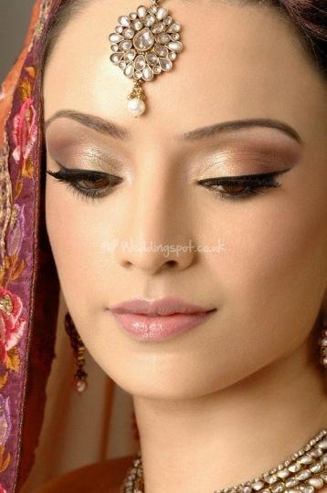 Asian bridal makeup from Pam Uppal Hair and Make-up.