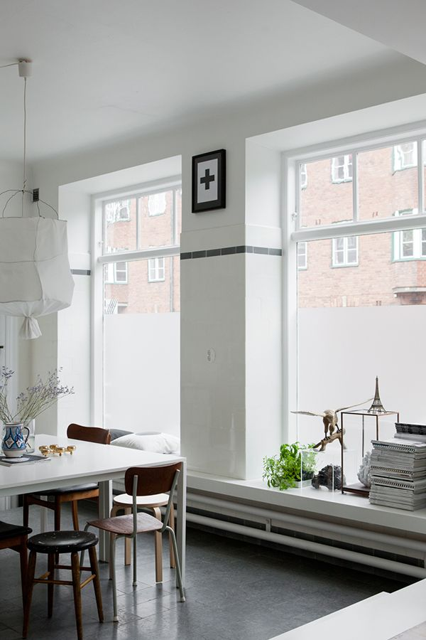 A Swedish home in a former shop