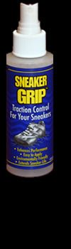 Great for Basketball, Wrestling, Volleyball shoes - just spray it on to clean, wipe off with a dry cloth. Then spray on the bottom of your shoes and leave to dry overnight.  Keeps the bottom of your shoes like new!  Helps prevent purchase of new basketball shoes every season if they still fit!  Derek loves this!
