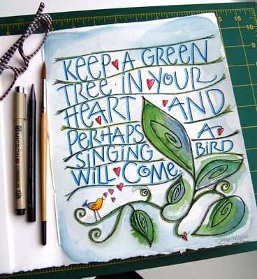 inspirational quote from elviestudio.blogspot com: Doodle, Art Journals, Lori Vliegen, Favorite Quotes, Birds, Art Journaling