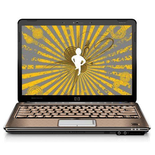 HP Pavilion DV3-1075US 13.3-Inch Laptop (2.10 GHz AMD Turion X2 RM-72 Dual-Core Processor, 4 GB RAM, 320 GB Hard Drive, DVD Drive, Vista Premium) Bronze/Chrome Entertainment-centric notebook PC with fluid, modern lines in bronze and chrome with argyle-like patterning; widescreen 13.3-inch LCD. 2.1 GHz AMD Turion X2 RM-72 dual-core processor, 320 GB hard drive, 4 GB RAM (8 GB max), LightScribe dual... #HP #PersonalComputer