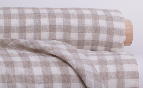 Linen Fabric 200gsm Medium Weight Pure 100 White And Not Dyed Gingham Check Washed And Softened Linen Fabric Pure Products Buy Fabric
