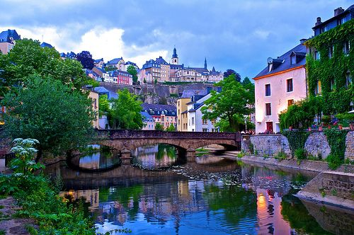 Luxembourg Old Town:  One of my many-times-great-Grandfathers was the man who created this country...so I REALLY want to go here.