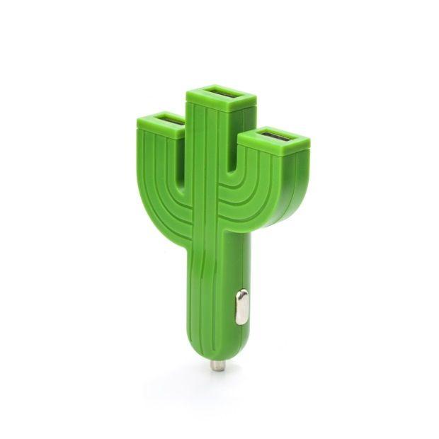 Kikkerland Oplader/USB voor Auto - Cactus - afbeelding 1
