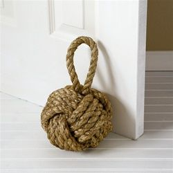 knot door stop: Idea, Monkey Fist, Monkeyfist, Nautical Knot, Beaches Houses, Products, Ropes Knot, Knot Doorstop, Doors Stoppers