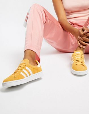save off b9b90 886f0 Image 1 of adidas Originals Campus Sneakers In Yellow