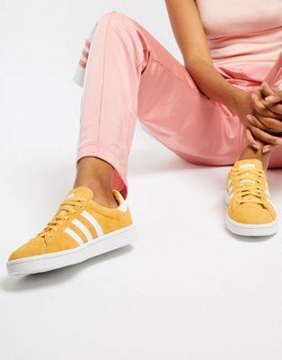 1d7f79d2cd19c4 Image 1 of adidas Originals Campus Sneakers In Yellow