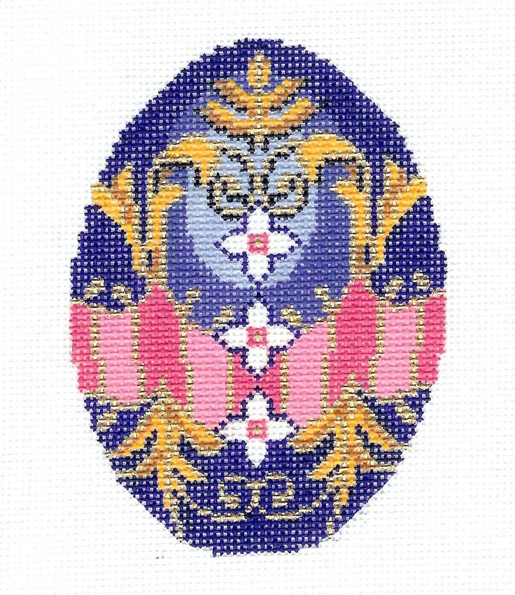 LEE OCTOBER Opal Birthstone EGG OF THE MONTH handpainted Needlepoint Canvas